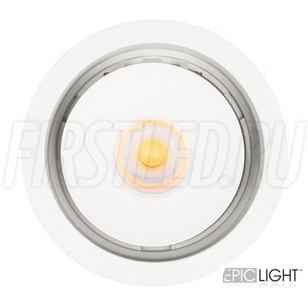 Круглый встраиваемый светодиодный светильник SIMPLE R 9W белого цвета