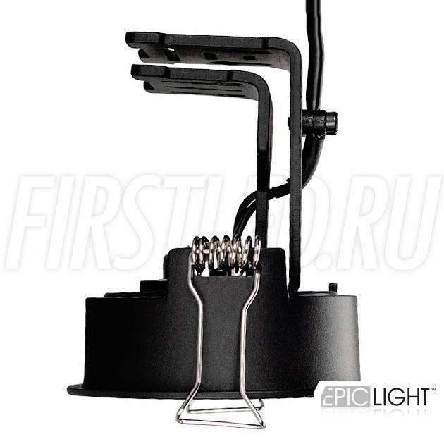 Встраиваемый светодиодный светильник SIMPLE R 9W с регулируемым углом наклона и поворота модуля в черном исполнении