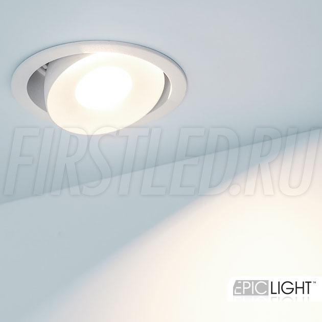 Встраиваемый светодиодный светильник SIMPLE R 9W в потолочной нише