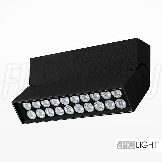 Накладной потолочный светодиодный светильник TURNED LOFT Black 10W (LINE 25 TURN DOT)