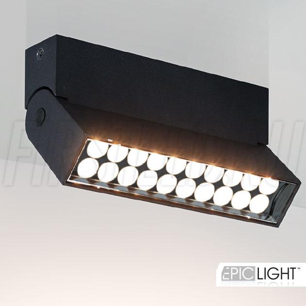 Накладной потолочный светодиодный светильник TURNED LOFT Black 10W в черном цвете