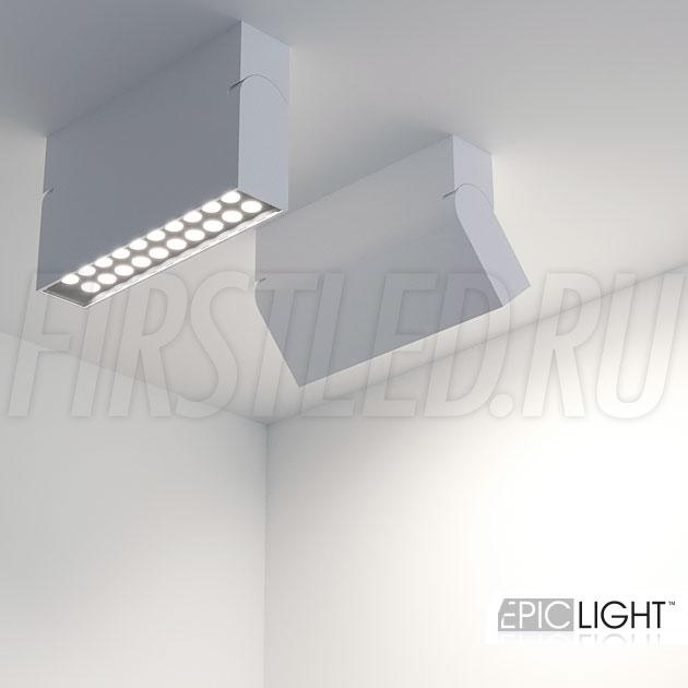 Накладной потолочный светодиодный светильник TURNED LOFT белый 10W (TURN DOT LINE 1030 WH)