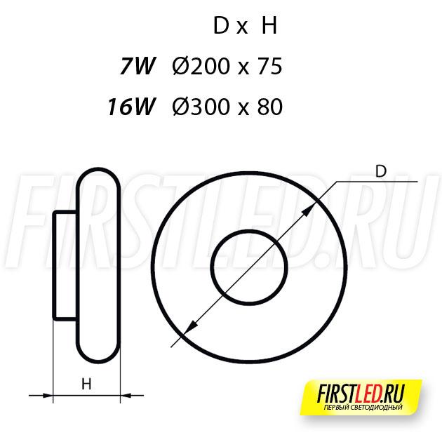 Чертеж (схема) светодиодной люстры ALTOR SW