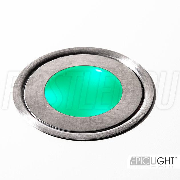 Зеленый свет светодиодного светильника EpicLIGHT CARPET.C
