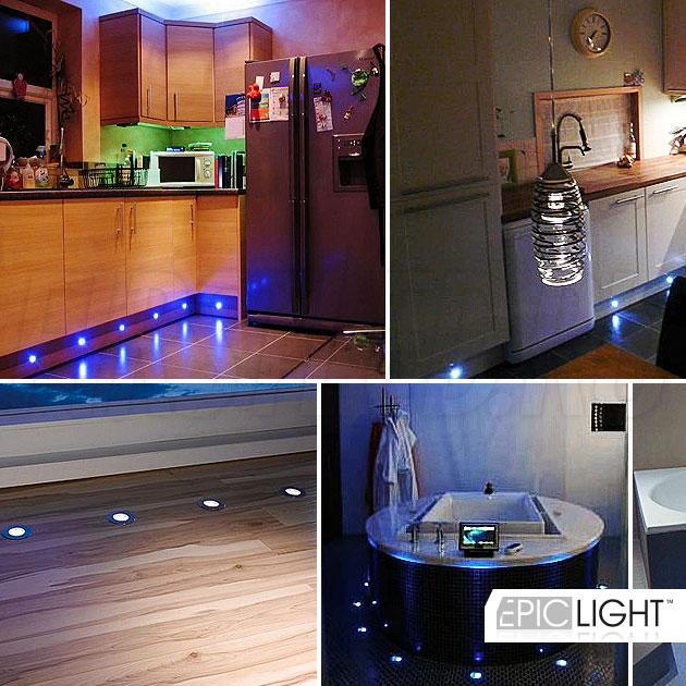 Простая установка светильника EpicLIGHT CARPET.C в ламинат, ковер, керамическую плитку или природный камень