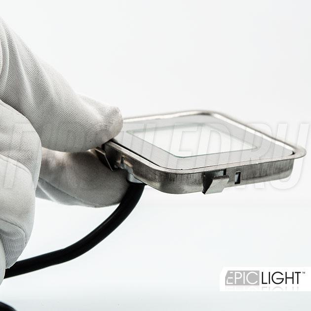 Тонкий и миниатюрный квадратный светодиодный светильник CARPET.K предназначен для установки в пол