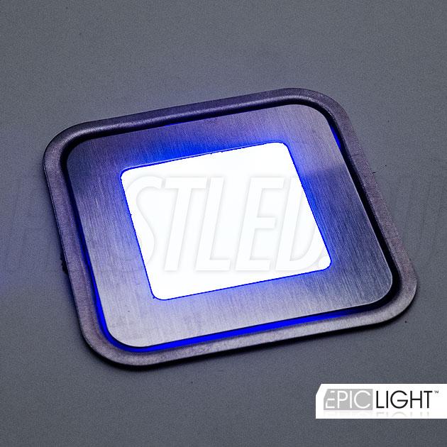 Синий оттенок многоцветного светодиодного светильника для установки в ламинат CARPET.K