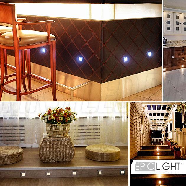 Декоративная подсветка дорожек и коридоров с помощью светодиодного светильника EpicLIGHT CARPET.K