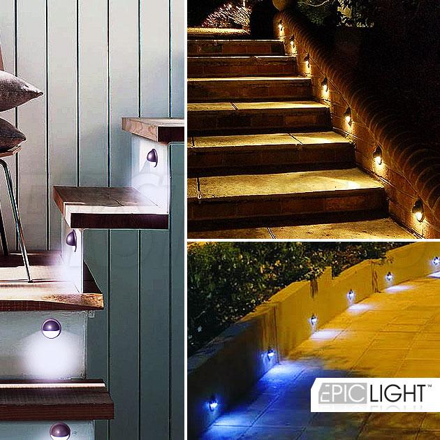 Диаметр светильника EpicLIGHT STEP.C всего 35 мм, установка в ступеньки или стены