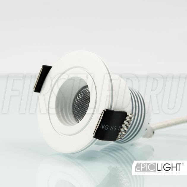 Мини светодиодный светильник SMOLUS 4.3 диаметром всего 45мм