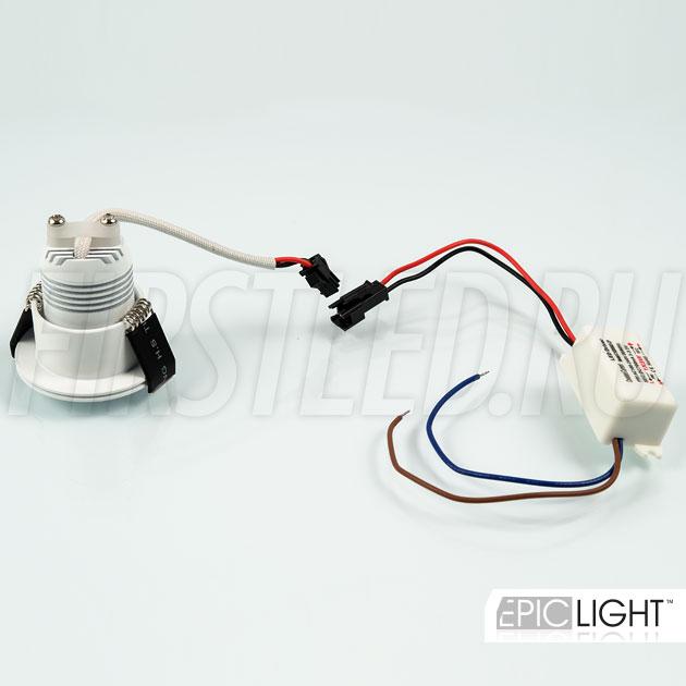 Простое соединение блока питания и светильника SMOLUS 4.3
