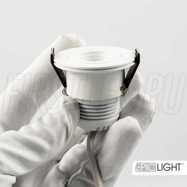 Светильник SMOLUS 4.3 встраивается в гипсокартонные ниши