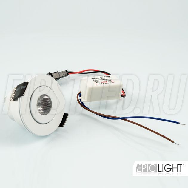 Светодиодный светильник SMOLUS 5.3 идет в комплекте с источником питания 220 Вольт