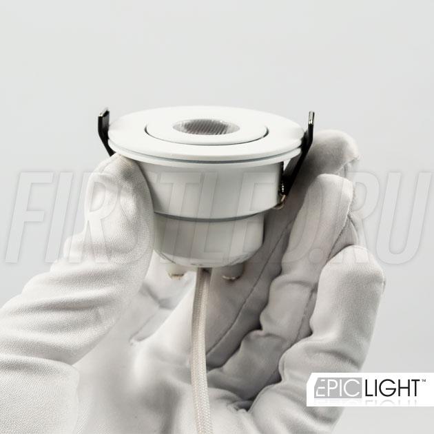 Светильник SMOLUS 5.3 устанавливается в потолок или гипсокартонные ниши