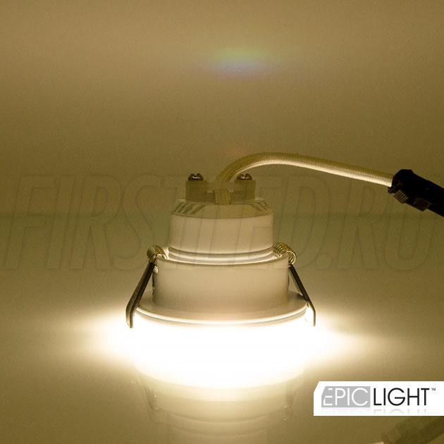 Светодиодный светильник SMOLUS 5.3 применяется для точечной подсветки объектов интерьера