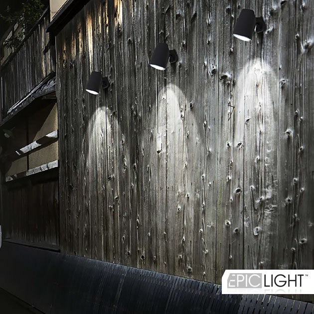 Подсветка стен с помощью светильника GARDENIUM