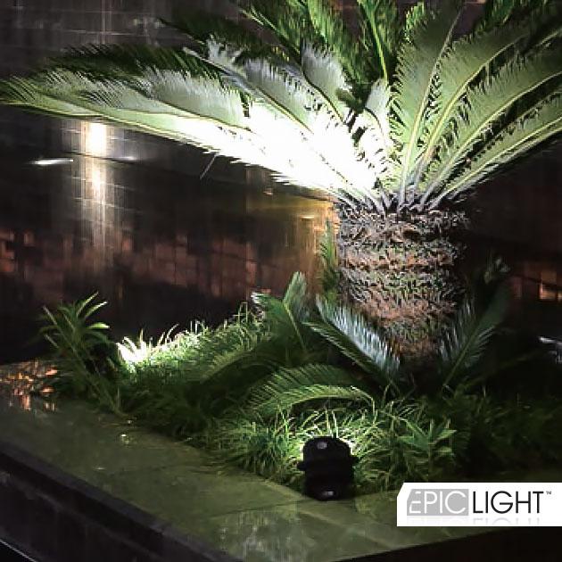 Подсветка газонов, кустов и деревьев благодаря современному светодиодному светильнику GARDENIUM