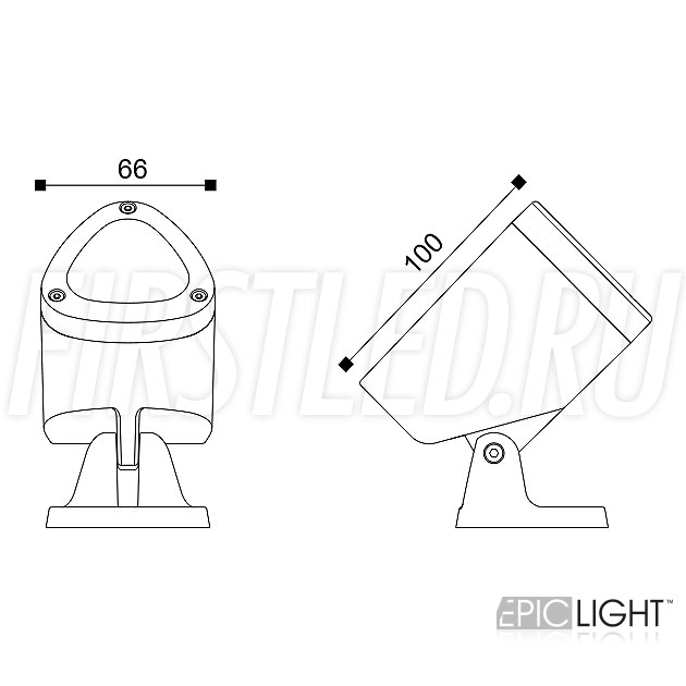 Чертеж (схема) светодиодного светильника GARDENIUM