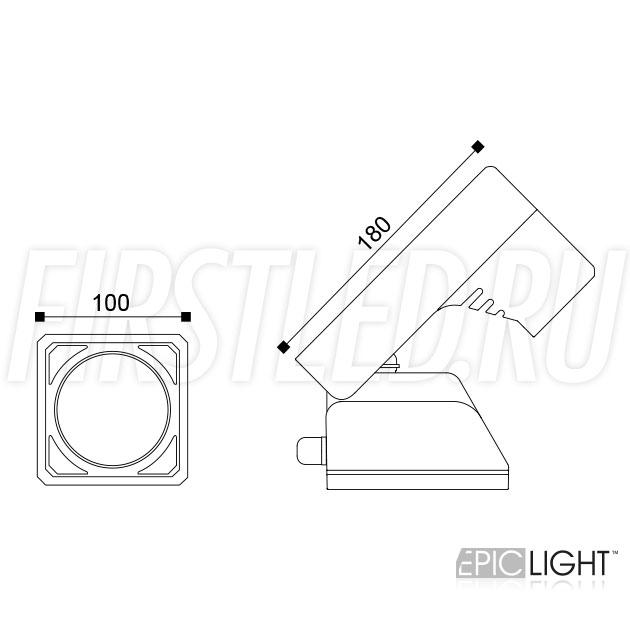 Чертеж (схема) светодиодного светильника MONUMENTO Lux