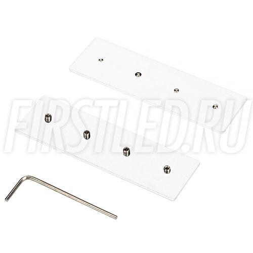 Прямой крепеж SL-SIDE для соединения трека и коннектора. Устанавливается на боковую поверхность шинопровода или коннектора при их соединении встык (белый).