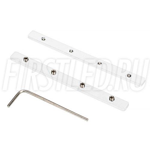 Прямой крепеж SL-UP для соединения трека и коннектора. Устанавливается в паз на тыльную поверхность шинопровода или коннектора при их соединении встык (белый).