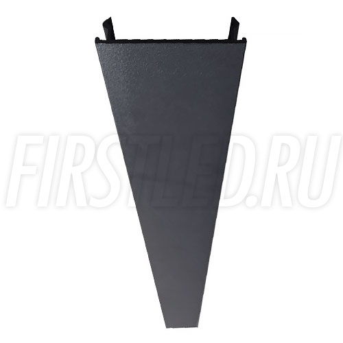 Декоративная накладка черного цвета для скрытия пустого пространства магнитного трека