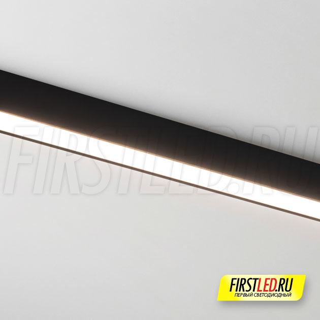 Магнитный трековый светильник MAG FLAT 25 L600 18W установленный в магнитом треке