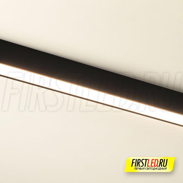 Магнитный трековый светильник MAG FLAT 25 L800 24W установленный в магнитом треке