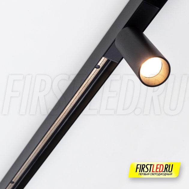 Магнитный трековый светильник MAG SPOT 25 R65 5W установленный в магнитном треке