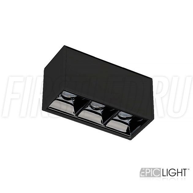 Магнитный трековый светильник MAGNETIC DOT B 3W в черном исполнении (INF SPOT LINE)