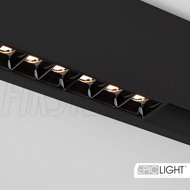 Магнитный трековый светильник MAGNETIC DOT B черного цвета (аналог INF SPOT LINE)