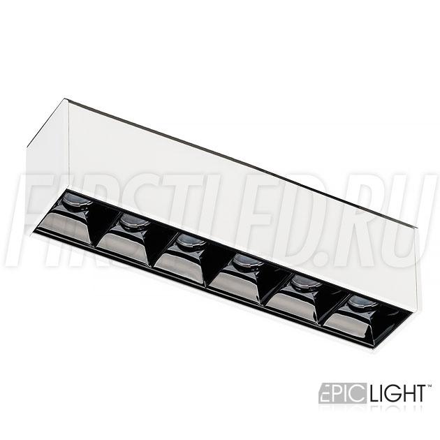 Магнитный трековый светильник MAGNETIC DOT W 3W в белом исполнении