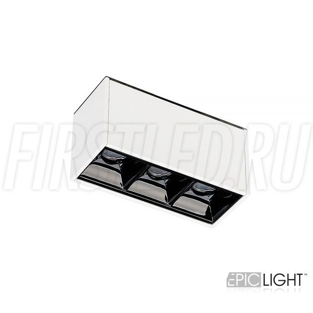 Магнитный трековый светильник MAGNETIC DOT W 3W белого цвета