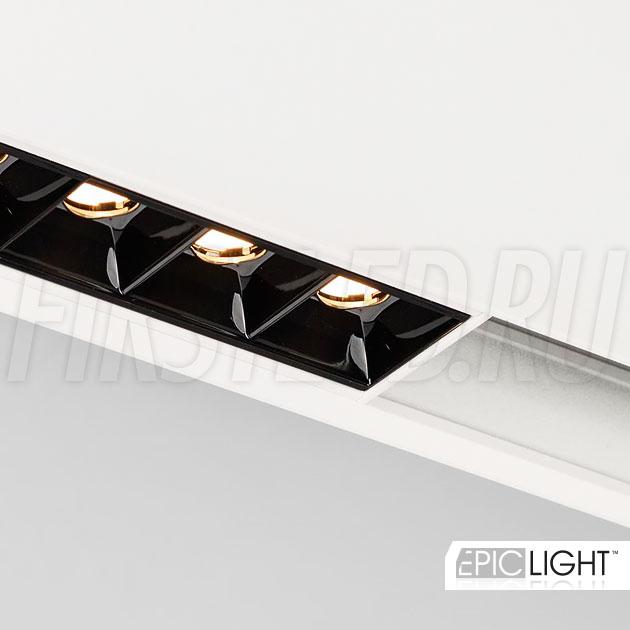 Магнитный трековый светильник MAGNETIC DOT W в белом корпусе (аналог INF SPOT LINE)