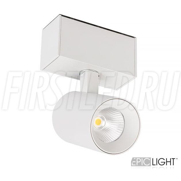 Магнитный трековый светильник MAGNETIC SPOT W 7W в белом исполнении