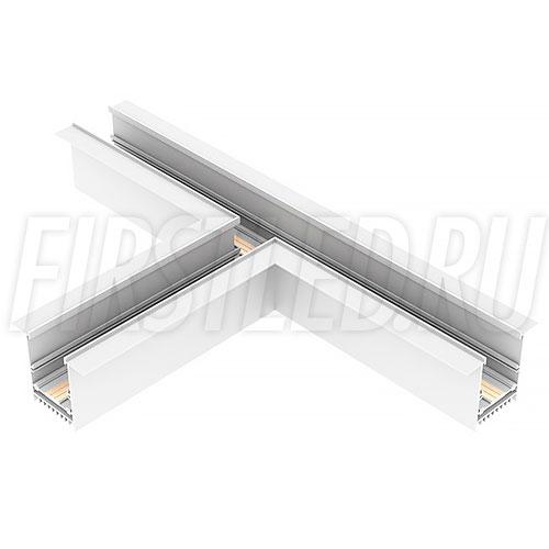 Т-образный коннектор для трех безрамочных магнитных треков MAGNETIC TRACK F под прямыми углами 90°