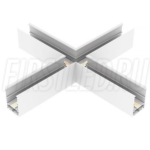 Крестовой X-образный коннектор для четырех накладных магнитных треков MAGNETIC TRACK N под прямыми углами 90°