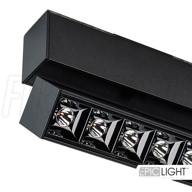 Магнитный трековый светильник MAGNETIC TURN DOT B черного цвета (INF TURN SPOT LINE BK)