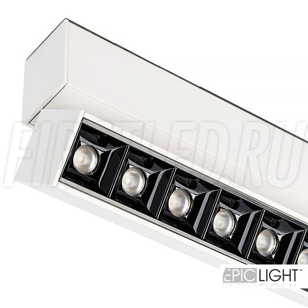 Магнитный трековый светильник MAGNETIC TURN DOT W в белом корпусе