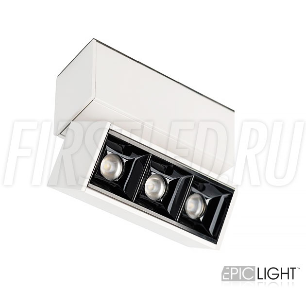Магнитный трековый светильник MAGNETIC TURN DOT W 3W белого цвета (аналог INF TURN SPOT LINE WH / LASER-FOLD)