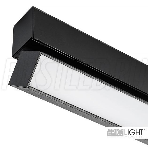 Магнитный трековый светильник MAGNETIC TURN LINE B с поворотным корпусом в черном цвете (аналог INF TURN LINE)