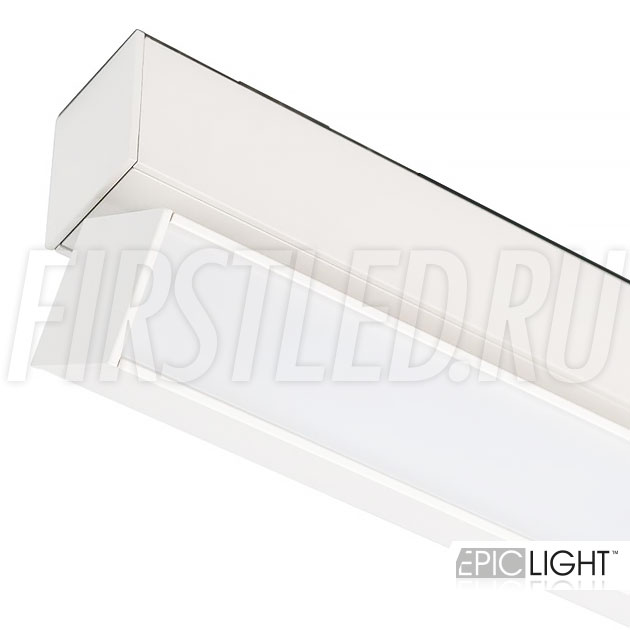 Магнитный трековый светильник MAGNETIC TURN LINE W в белом цвете (аналог INF TURN LINE WH или FLAT-FOLD)