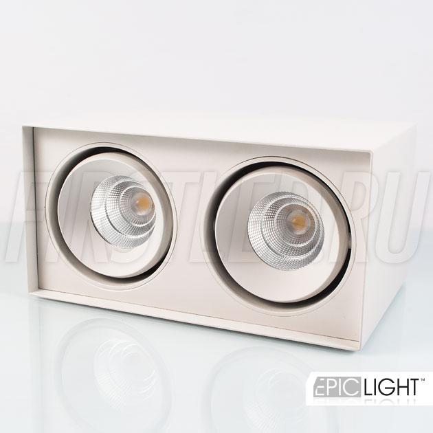 Двойной потолочный светодиодный светильник в накладном исполнении CUBOID DUO