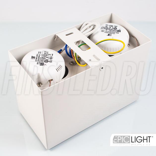 Накладной светильник CUBOID DUO — блок питания питающий светильник уже встроен в него