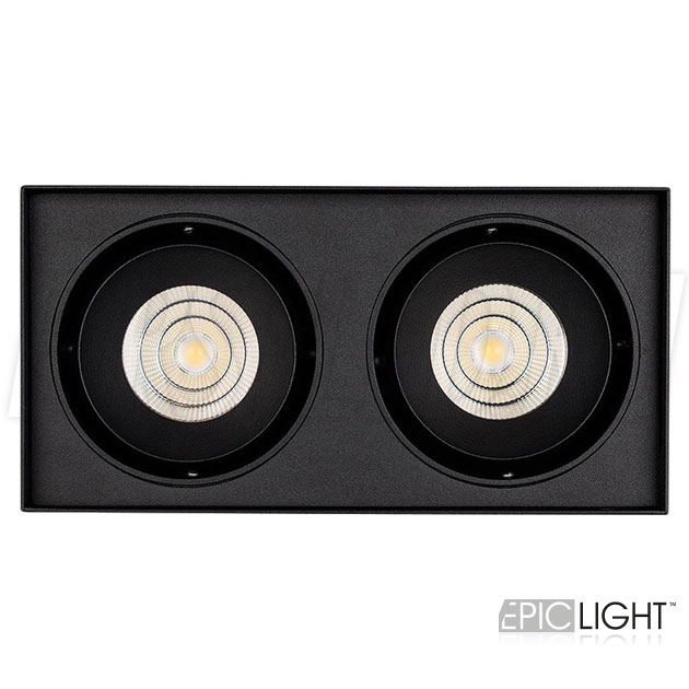 Накладной светодиодный светильник CUBOID DUO в черном корпусе