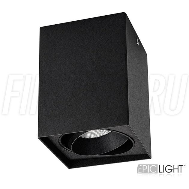 Накладной потолочный светодиодный светильник CUBOID UNO в черном матовом корпусе