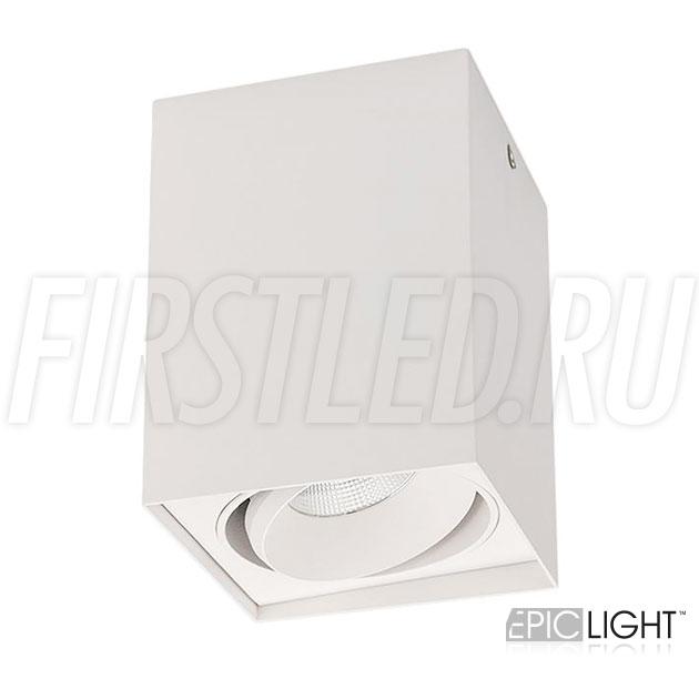 Накладной потолочный светодиодный светильник CUBOID UNO в белом матовом корпусе