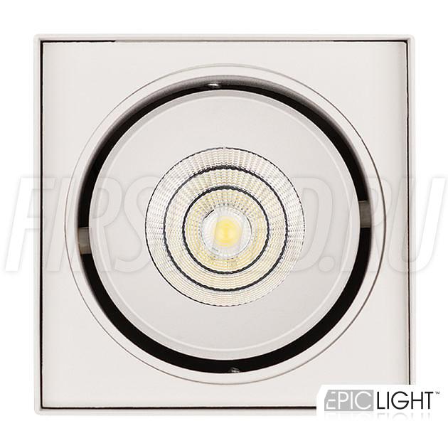 Накладной светодиодный светильник CUBOID UNO — с помощью поворотной части можно направить световой поток на нужный участок интерьера