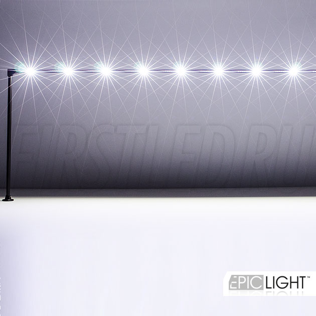 Едва заметный в витрине светодиодный светильник STILO LONG для подсветки ювелирных изделий