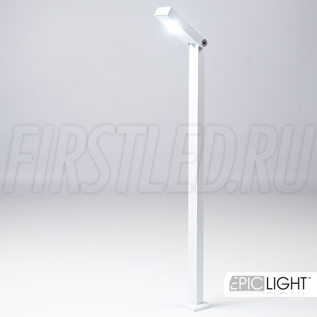 Мощный светодиод, качественное исполнение из алюминия в белом корпусе — светодиодный светильник EpicLIGHT VITRO
